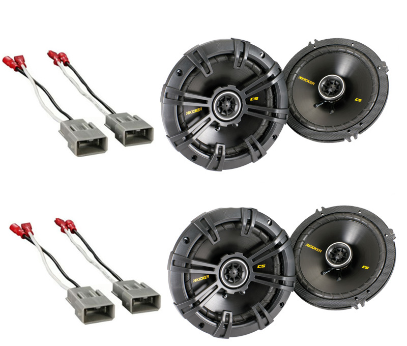 """Honda Prelude 1992-1996 Kicker Factory 6 1/2"""" Coaxial Speaker Replacement (2) CS654 Package New"""