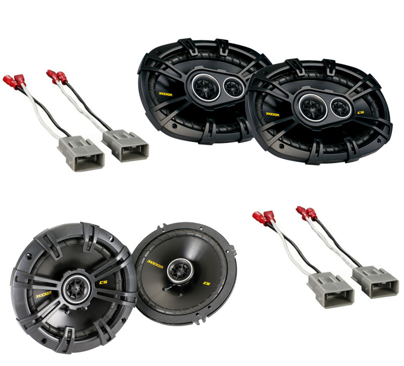 Acura Legend 1990-1996 Kicker Factory Coaxial Speaker Replacement CS654 & CS6934 Package