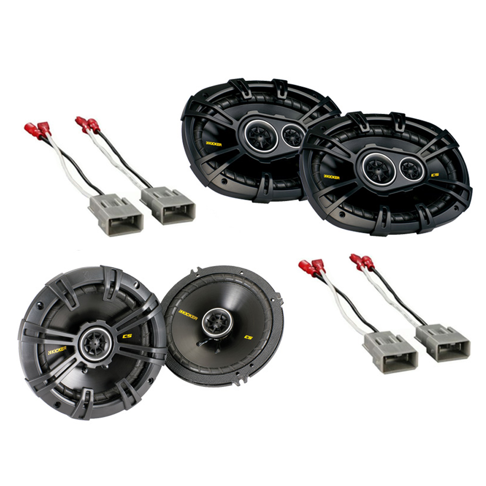 Honda Accord 1990-2009 Kicker Factory Coaxial Speaker Replacement CS654 & CS6934 Package