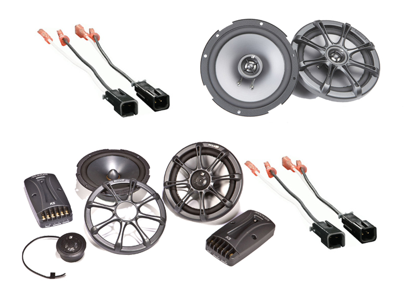 Dodge Dakota 1997-1999 Kicker Factory Component Speaker Replacement KS65.2 & KS65 Package