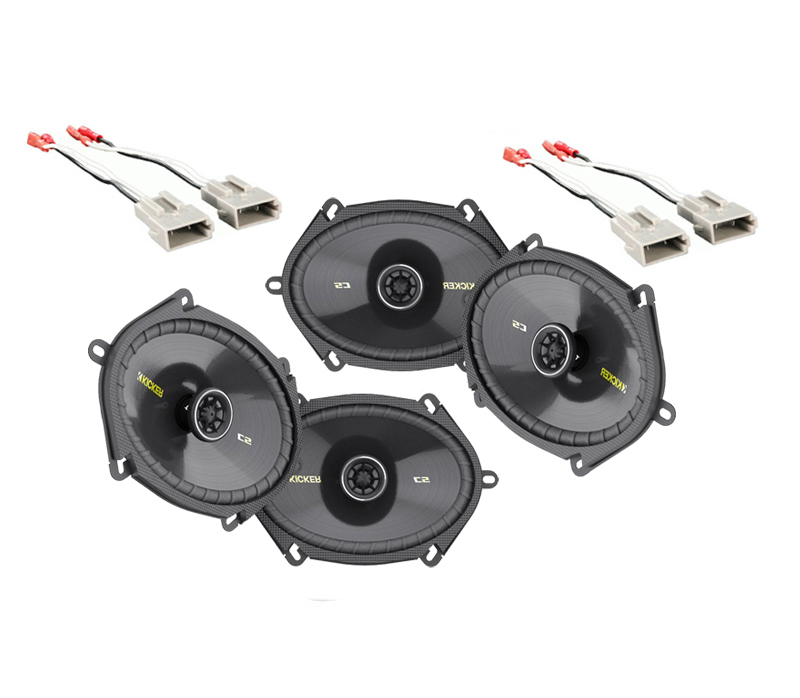 Ford F150 Extended Cab 97-99 Truck Kicker Factory 5x7 6x8 Coaxial Speaker Replacement (2) CS684 Package