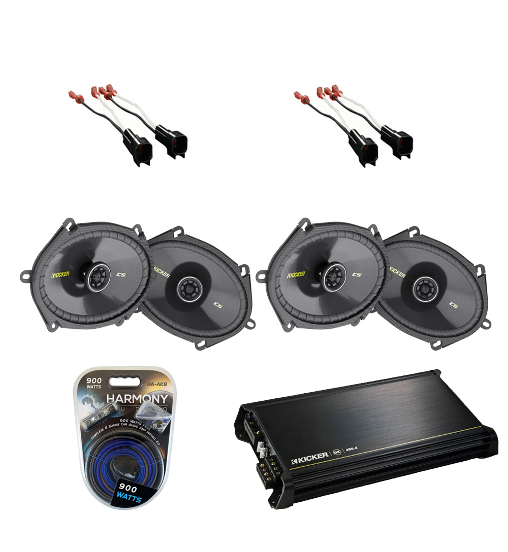 lincoln mkx 2007 2010 kicker factory 5x7 6x8 coaxial speaker replacement 2 cs684 package with. Black Bedroom Furniture Sets. Home Design Ideas