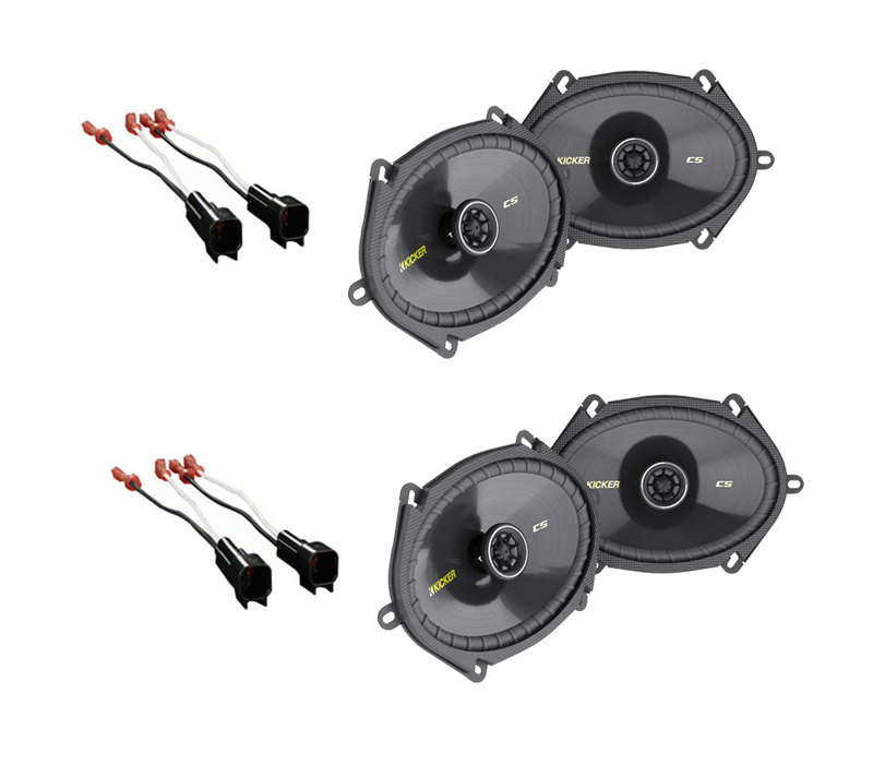 Mercury Mariner 2005-2008 Kicker Factory 5x7 6x8 Coaxial Speaker Replacement (2) CS684 Package New