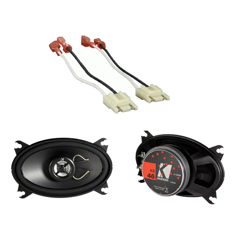 "Jeep Wrangler YJ 1987-1995 Kicker KS46 Factory 4x6"" Front Coaxial Replacement Speaker Pair"