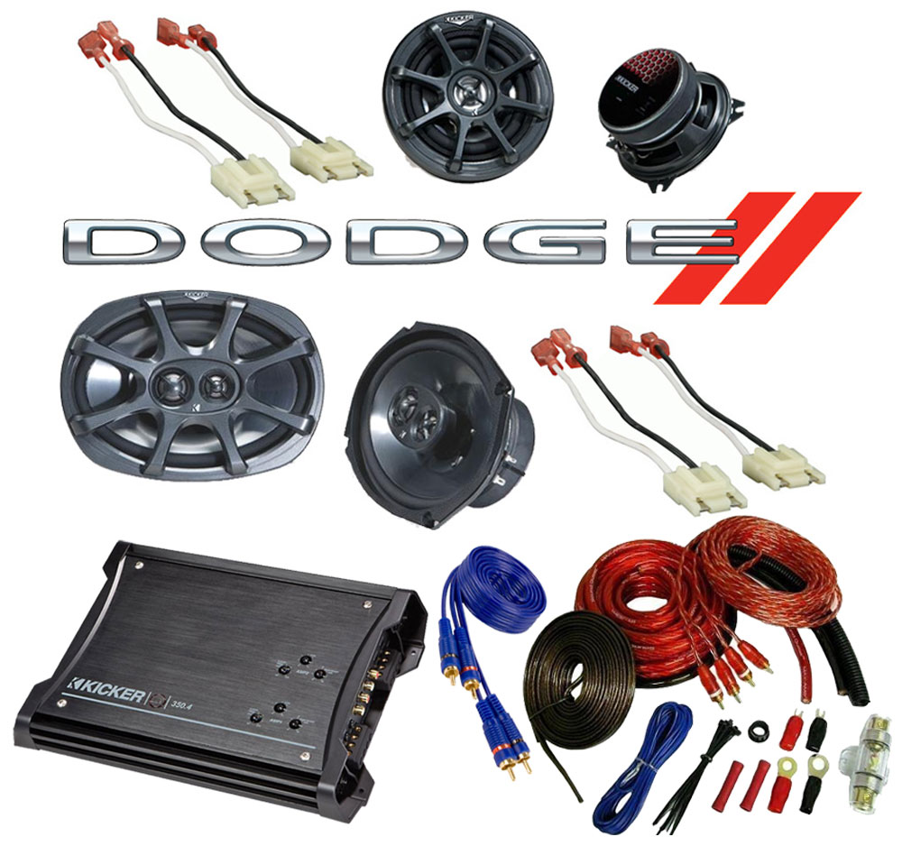 Dodge Ram 94-01 Extended Cab Truck Kicker Factory Speaker Replacement KS6930 & KS5250 Package with ZX350.4 Amp