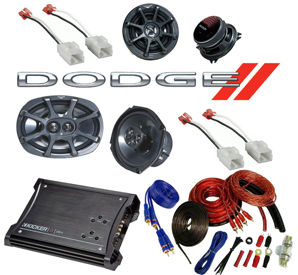 Dodge Ram 02-08 Quad Cab Truck Kicker Factory Speaker Replacement KS6930 & KS5250 Package with ZX350.4 Amp