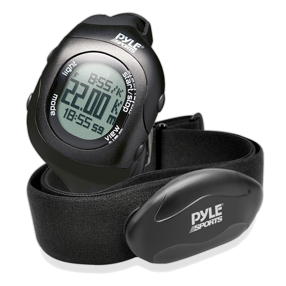 Pyle Sport PSBTHR70BK Bluetooth Fitness Heart Rate Monitor Watch Black Color Compatible with iOS or Android