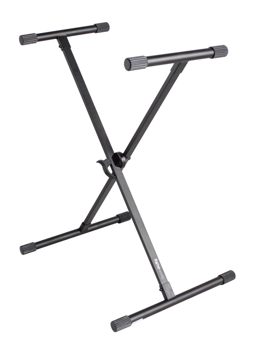 Gator Frameworks GFW-KEY-1000X Adjustable X-Style Keyboard Stand with Rubber Leveling Foot