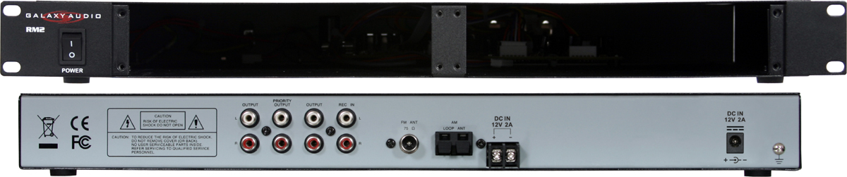 Galaxy Audio RM2 Rackmount Chassis for Rack Mount Players & Recorders