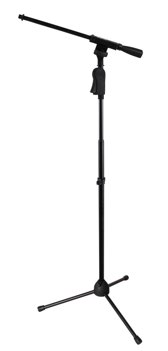 Gator Frameworks GFW-MIC-2110 Tripod Mic Stand with One Handed Clutch and Single Section Boom
