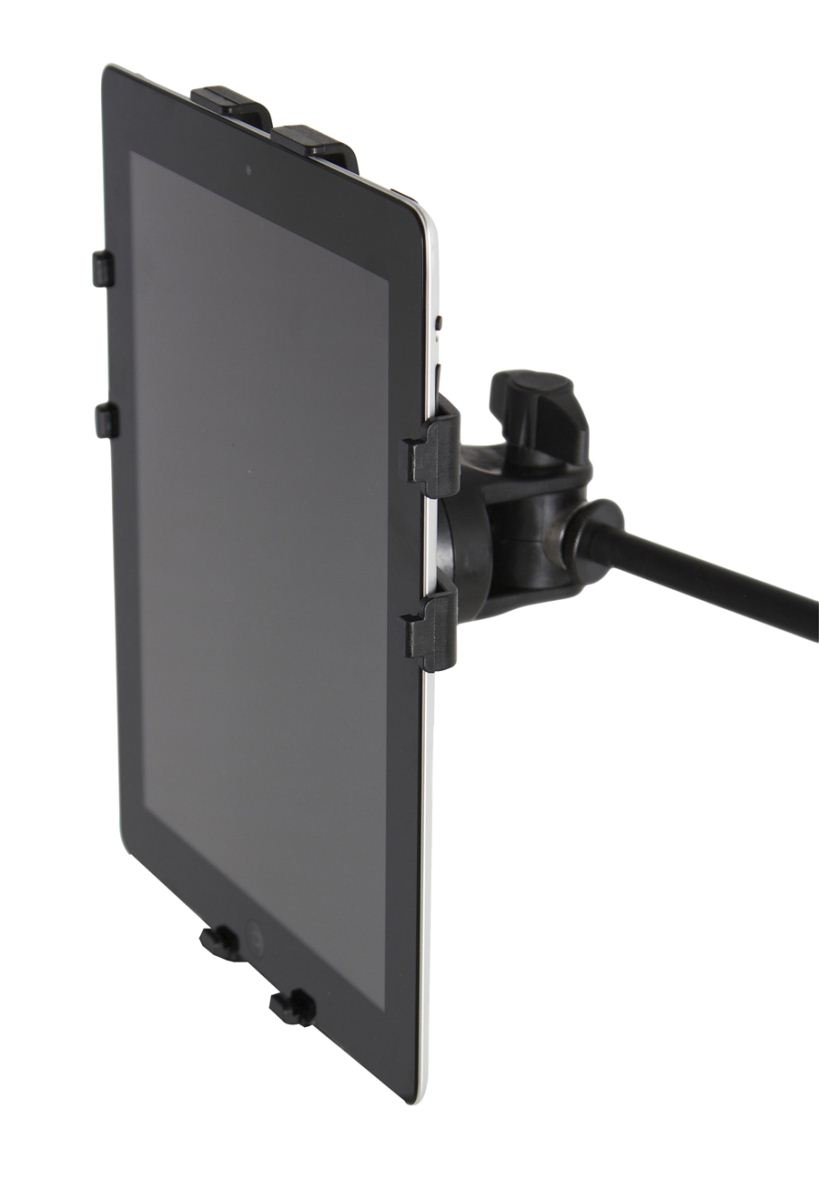Gator Frameworks GFW-UTL-TBLTMNT Microphone Stand Mount with iPad Tablet Tray