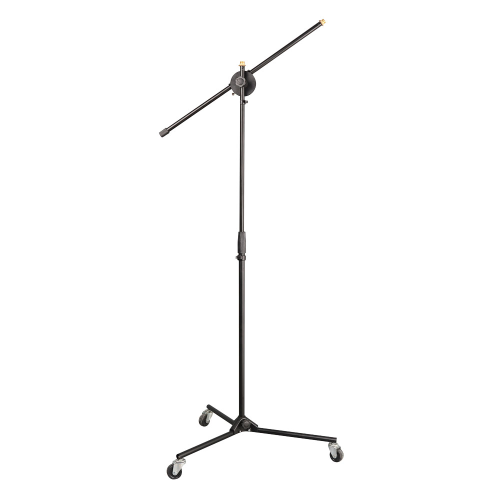 PYLE PRO PMKS22 Rolling Tripod Mic Stand with Polished Easy Clean Finish