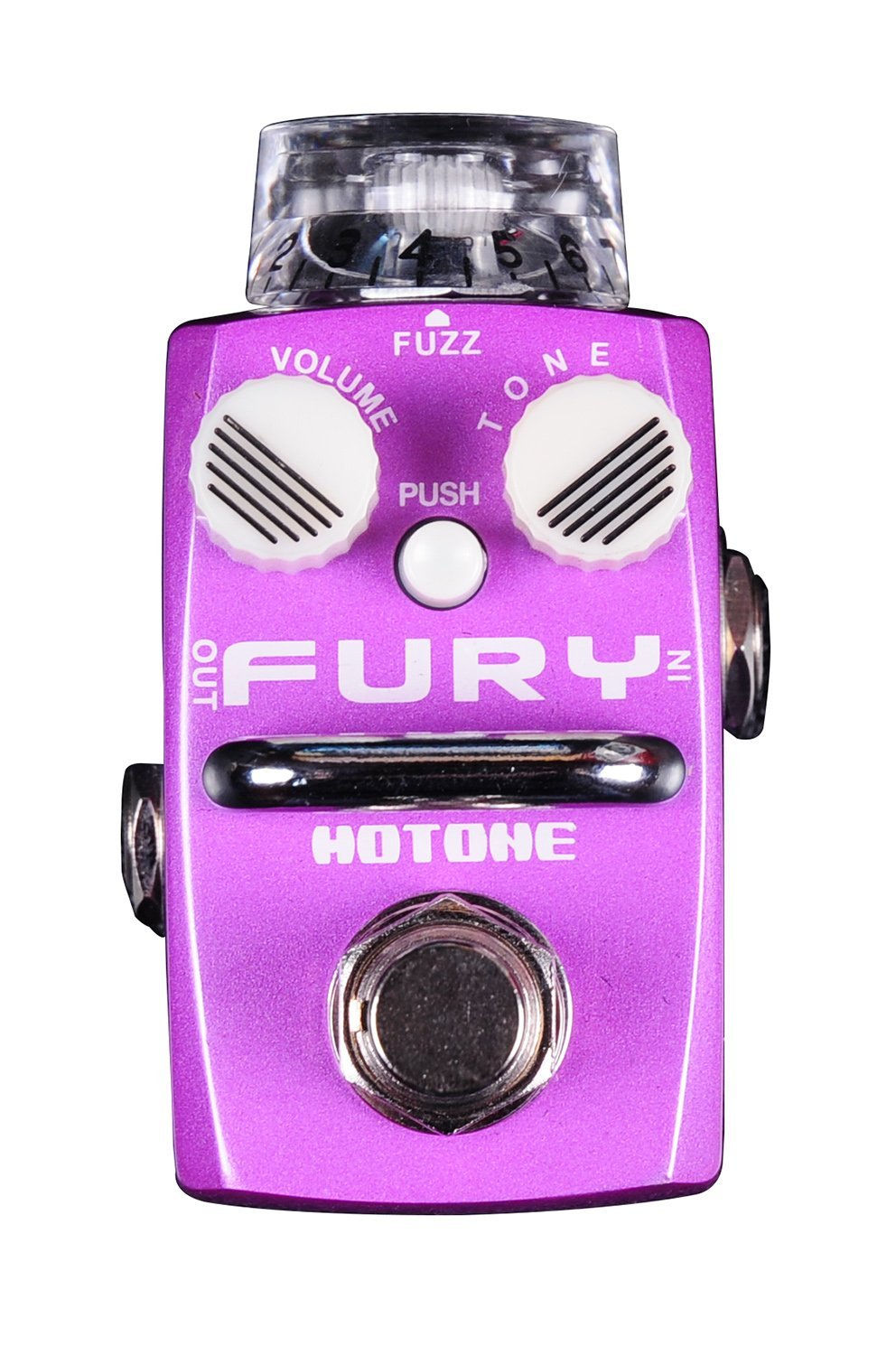Hotone Skyline FURY Fuzz Guitar Stompbox with Transparent Top Knob & 2 Noctilucent Small Knobs (TPSFZ1)