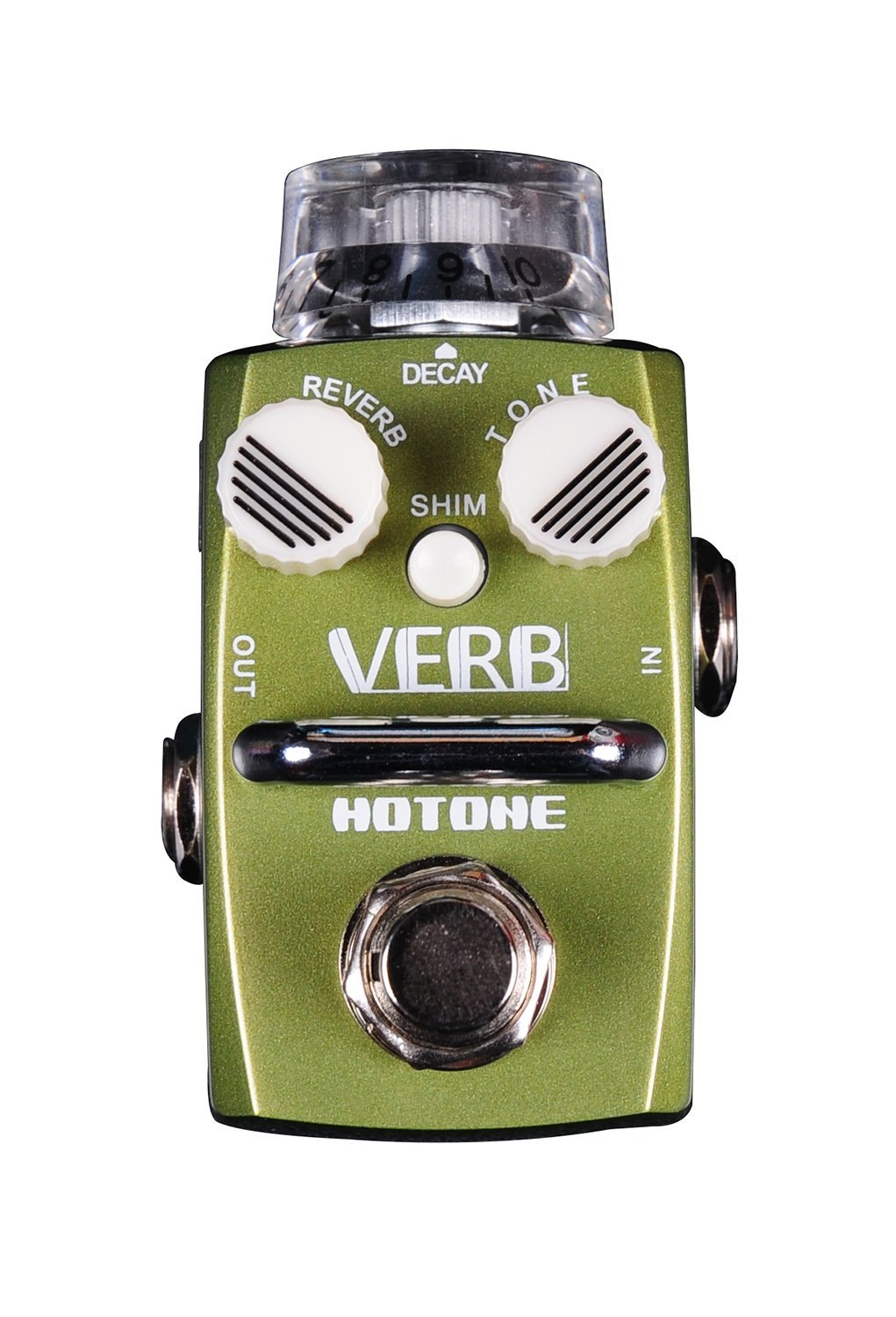 Hotone Skyline VERB Digital Reverb Guitar Stompbox with Transparent Top Knob (TPSRV1)