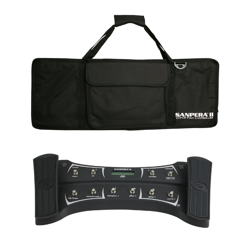 Peavey Sanpera II Programmable Footswitch Controller for Vypyr Combo Guitar Amp with Protective Travel Bag