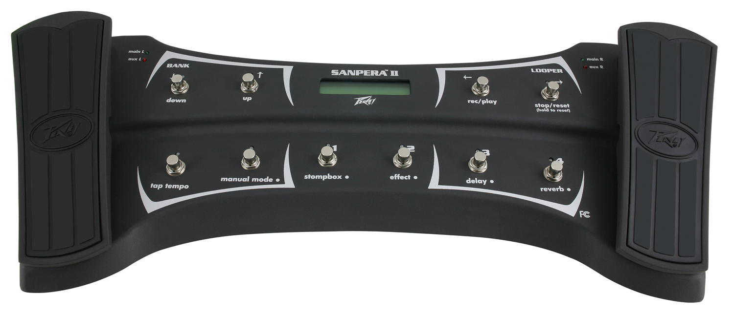 Peavey Sanpera II Metal Switch Dual Foot Controller w/ On-Screen Tuner (3017550)