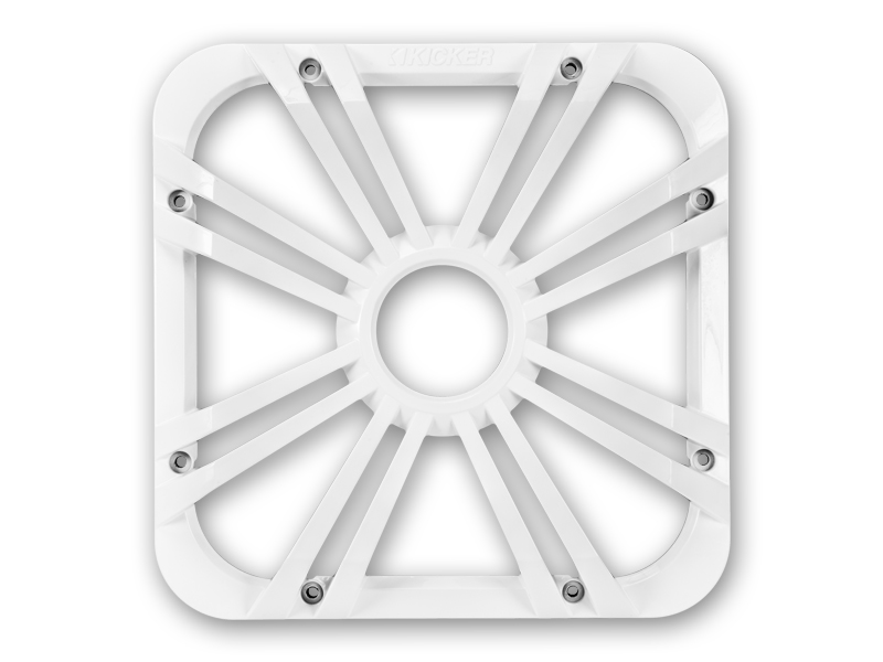 """Kicker 11L712GLW 12"""" Square White Grille for Solo-Baric L7 Subwoofers w/ Accent LEDs"""