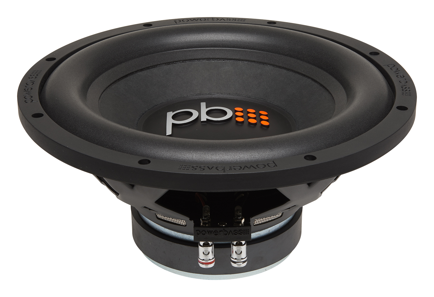 """Powerbass S-1204 12"""" Single 4-Ohm Subwoofer with Chrome Push Input Terminals"""