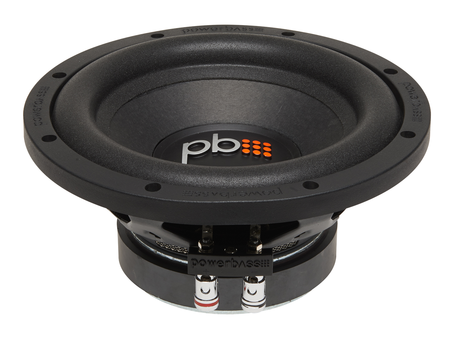"Powerbass S-84D S-Series 8"" Dual 4-Ohm Subwoofer with Oversized Motor Structure"