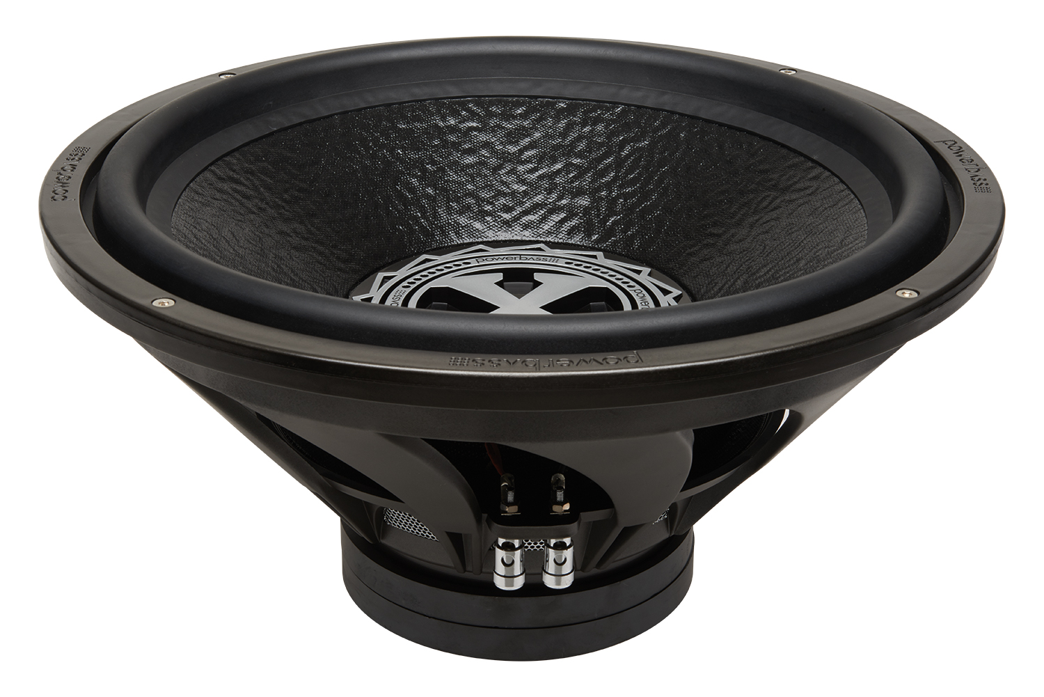 Powerbass XL-1504D XL 15-Inch Dual 4-Ohm Subwoofer with Chrome Push Terminals