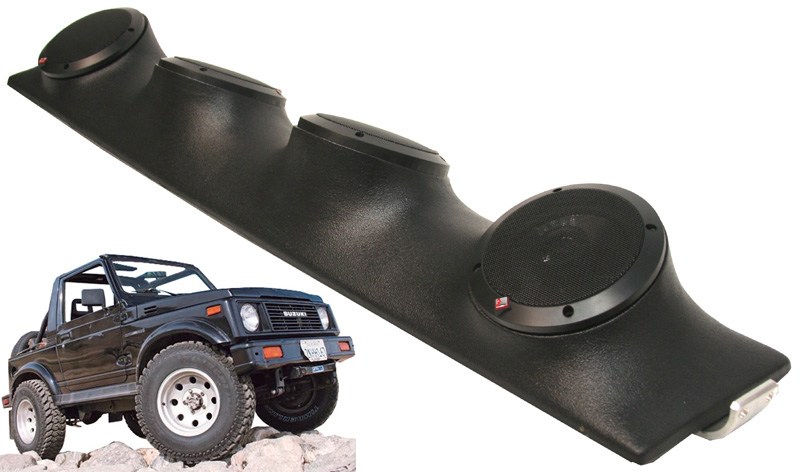 "Suzuki Samurai Rockford System R152 Custom Quad (4) 5 1/4"" Speakers Power Sports UTV Pod"