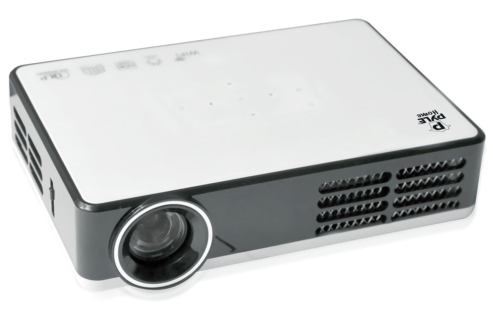 Pyle home prjand805 hd mini hi res smart projector with for Mini smart projector