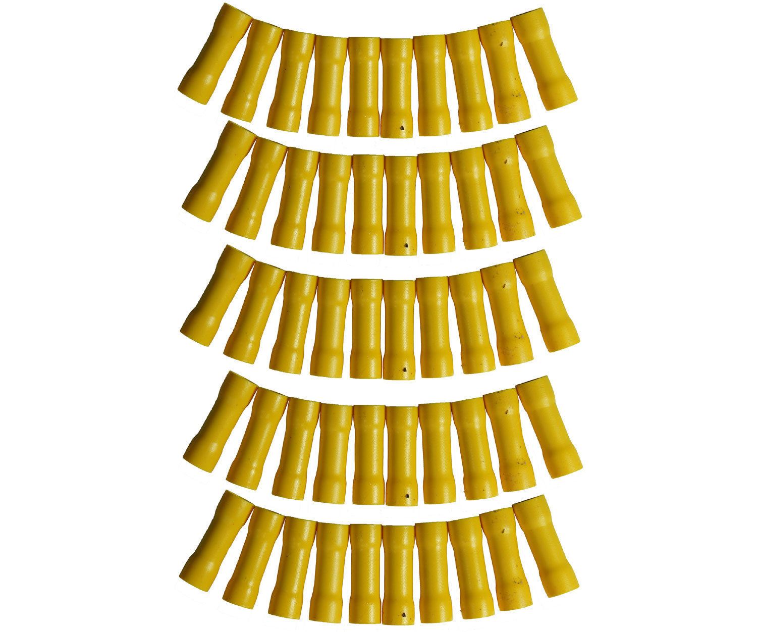 Harmony Audio HA-BC1012 Car Stereo Butt Connectors 10 to 12 Gauge Wire Yellow Color