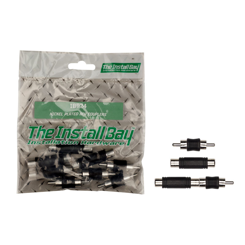 Install Bay IBR24 Polybag Retail Packed Hardware Nickel Plated RCA Couplers 1 Bag of 8 Pcs