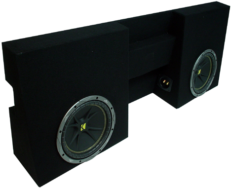 "Toyota Tacoma 05-09 Double Cab Dual 10"" Sub Box Enclosure"