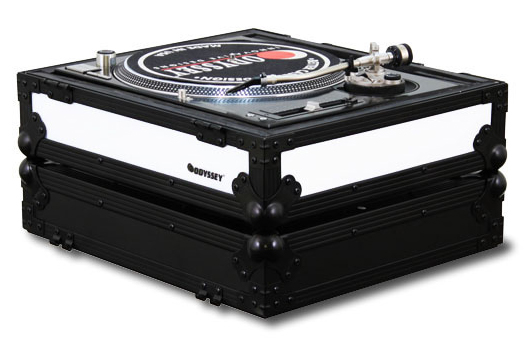 Odyssey FFX2LBM1200BL Flight FX2 Series Battle Position Technics 1200 Style Turntable Case w/ Front & Right Side LED Panel