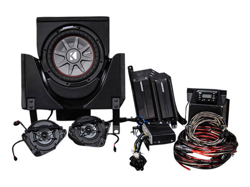 Kicker 45CX33 Can-AM Maverick X3 UTV SSV Works Loaded Amp, 2 Speaker Sub Package