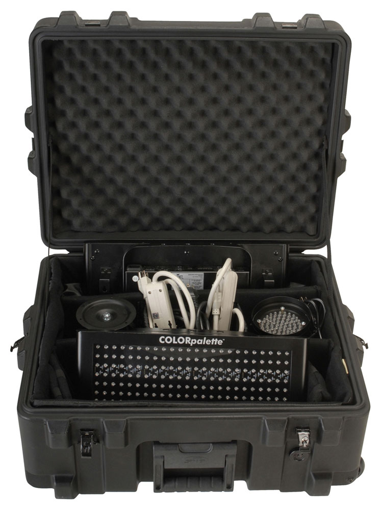"SKB Cases 3R2217-10B-DW Roto Mil-Std Waterproof Case 10"" Deep w/ Dividers - Pull Handle & Wheels (3R221710BDW)"