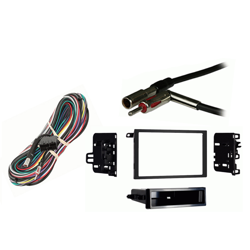 Cadillac Brougham 1990 1991 1992 Double DIN Stereo Harness Radio Install Dash Kit