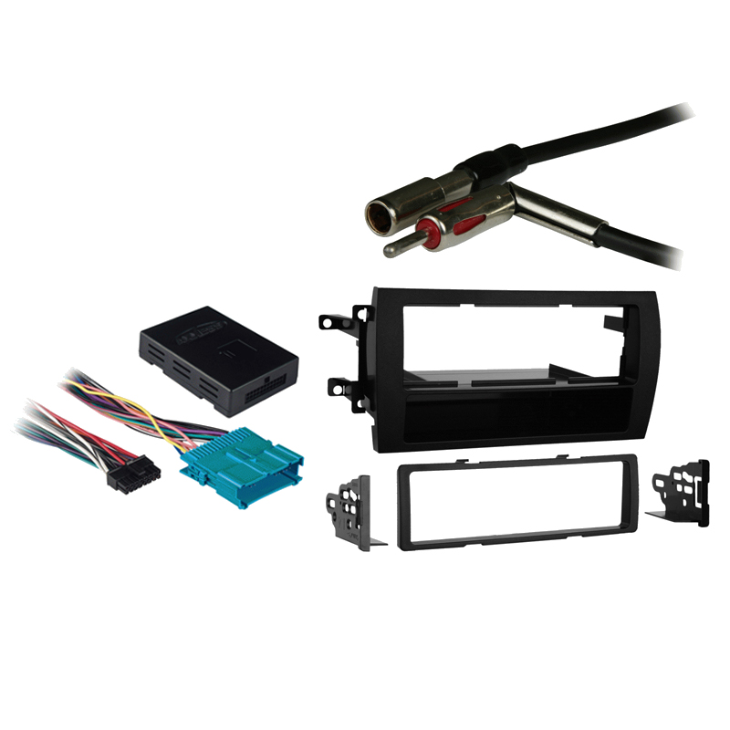 Cadillac Catera 97-01 Single DIN Stereo Harness Radio Install Dash Kit Package
