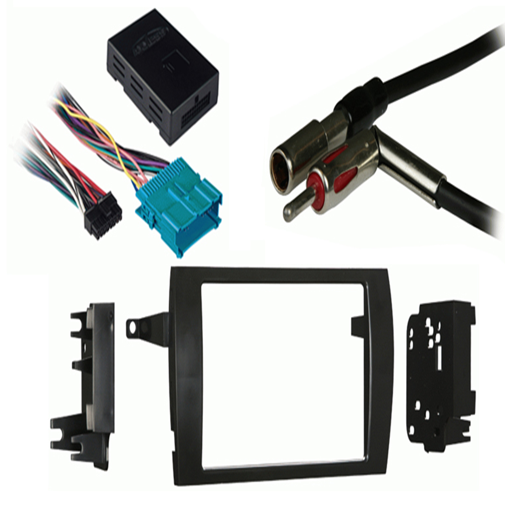 Cadillac Catera 97-01 Double DIN Stereo Harness Radio Install Dash Kit Package