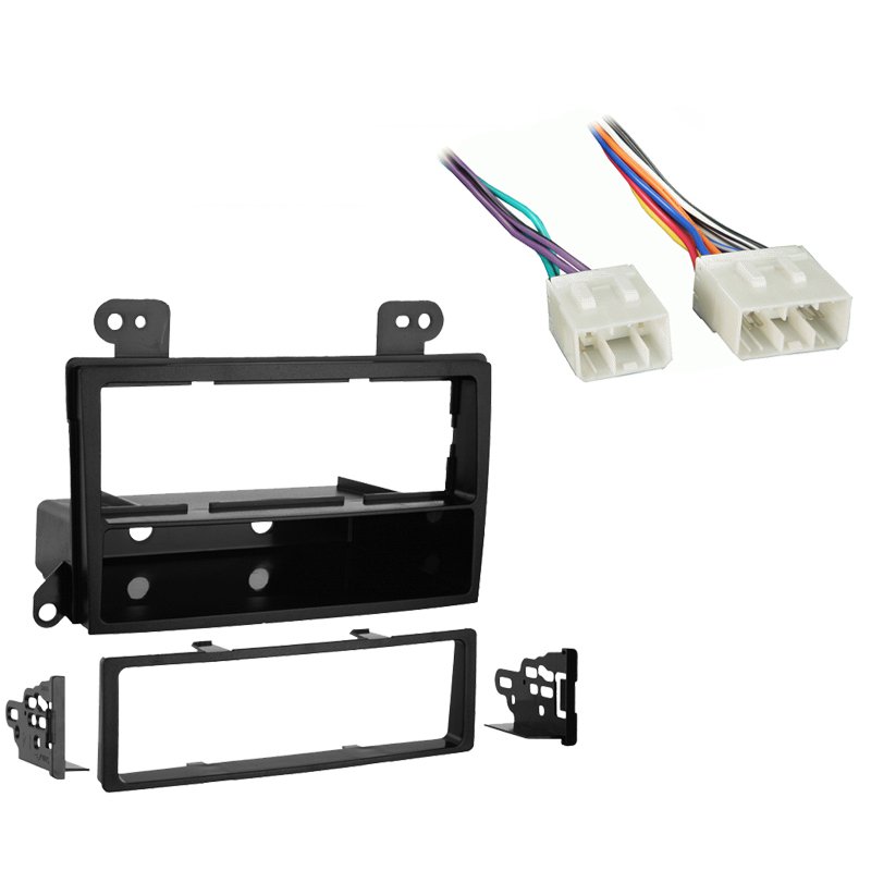 Mazda MPV Van 2000 2001 Single DIN Stereo Harness Radio Install Dash Kit Package