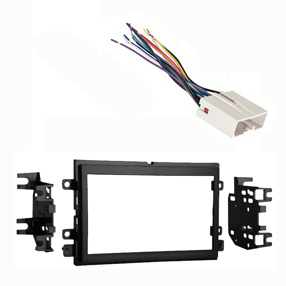 Mercury Monterey 2004 2005 2006 2007 Double DIN Stereo Harness Radio Install Dash Kit Package
