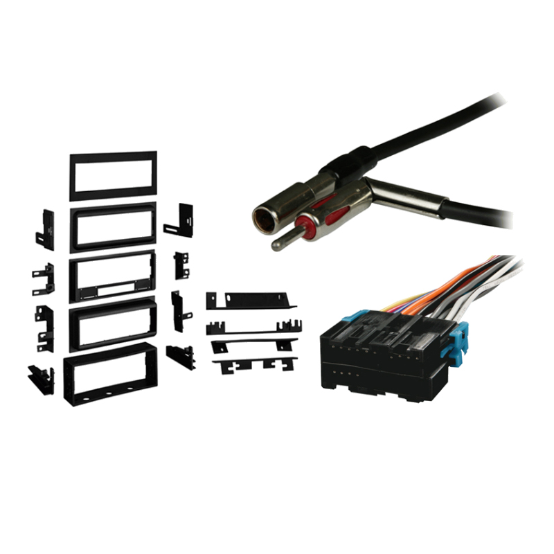 Cadillac DeVille 88-95 Single DIN Stereo Harness Radio Install Dash Kit Package