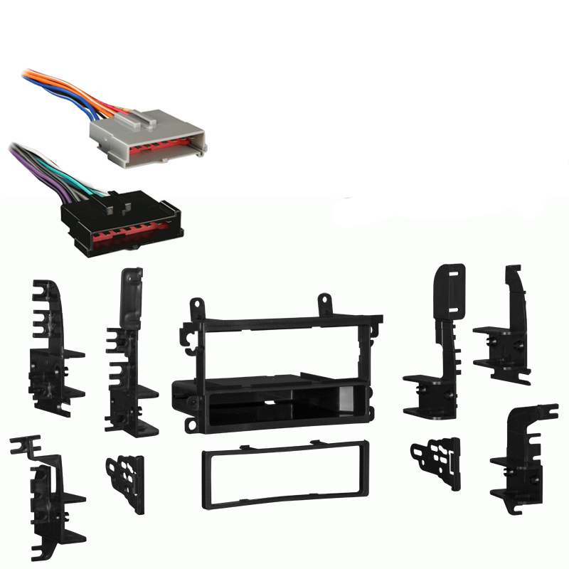 Nissan 240SX 1995-1998 Single DIN Stereo Harness Radio Install Dash Kit Package