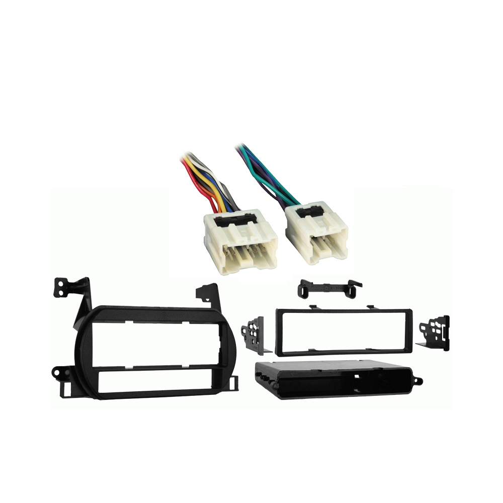 Nissan Altima 2002-2004 Single DIN Stereo Harness Radio Install Dash Kit Package