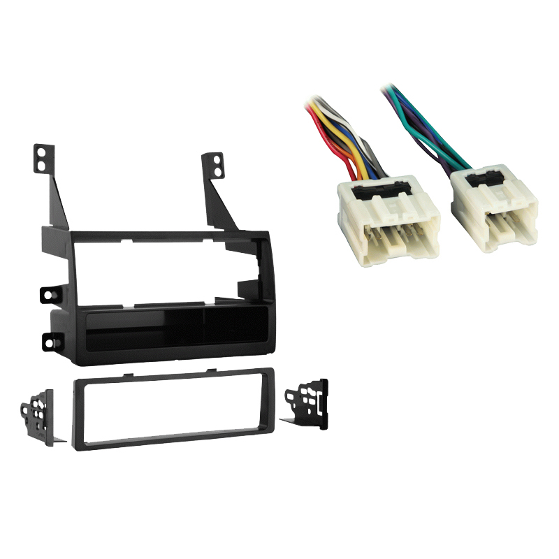 Nissan Altima 2005-2006 Single DIN Stereo Harness Radio Install Dash Kit Package