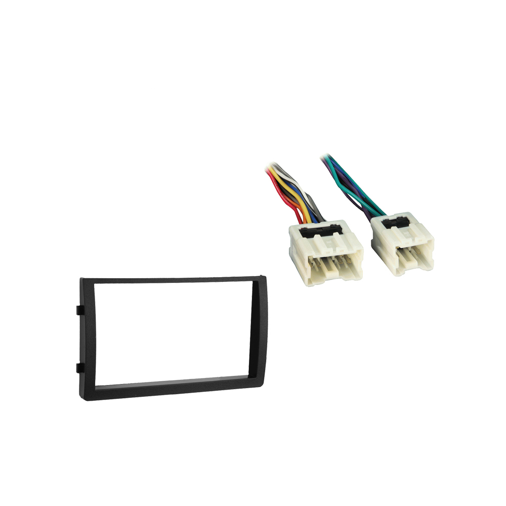 Nissan Altima 2005-2006 Double DIN Stereo Harness Radio Install Dash Kit Package