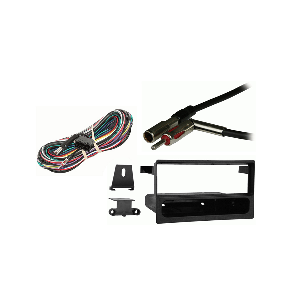Cadillac Eldorado 1992 1993 1994 1995 w  Console Shift Single DIN Stereo Harness Radio Dash Kit