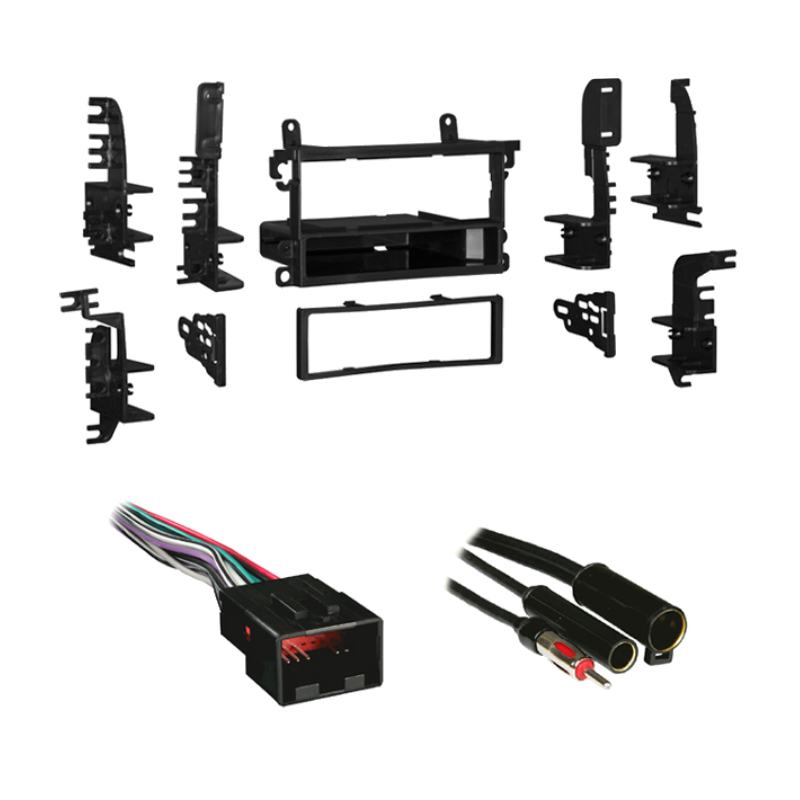 Nissan Quest 1999-2003 Single DIN Stereo Harness Radio Install Dash Kit Package