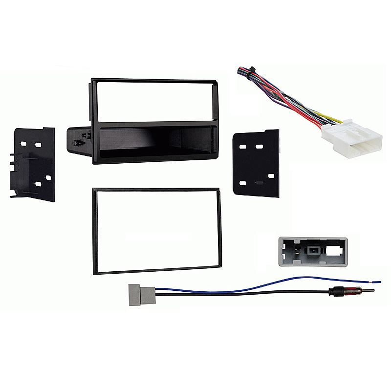 Nissan Quest 2011-2016 Single DIN Stereo Harness Radio Install Dash Kit Package