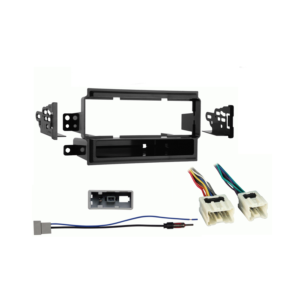 Nissan Titan 2008 2009 2010 2011 2012 2013 2014 Single DIN Stereo Harness Radio Dash Kit   Base S Model