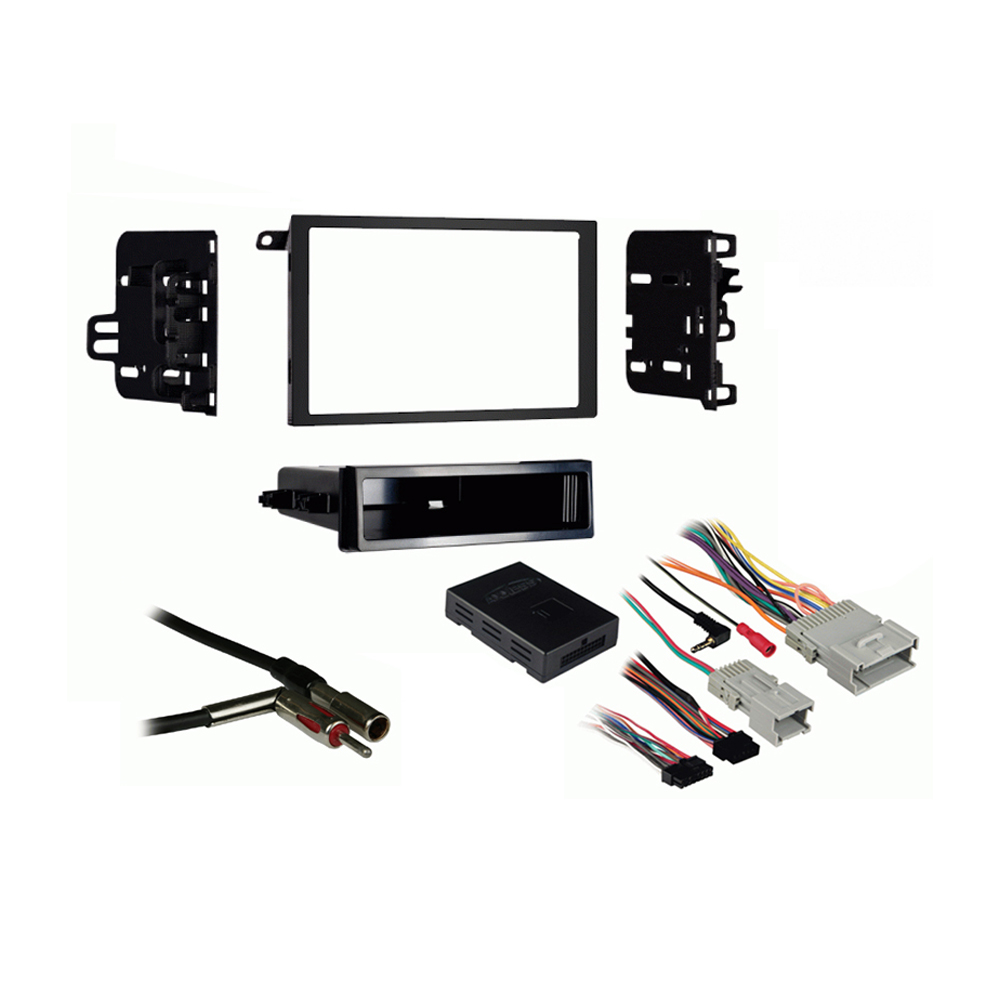 Oldsmobile Alero 2001 2002 2003 2004 Double DIN Stereo Harness Radio Install Dash Kit Package