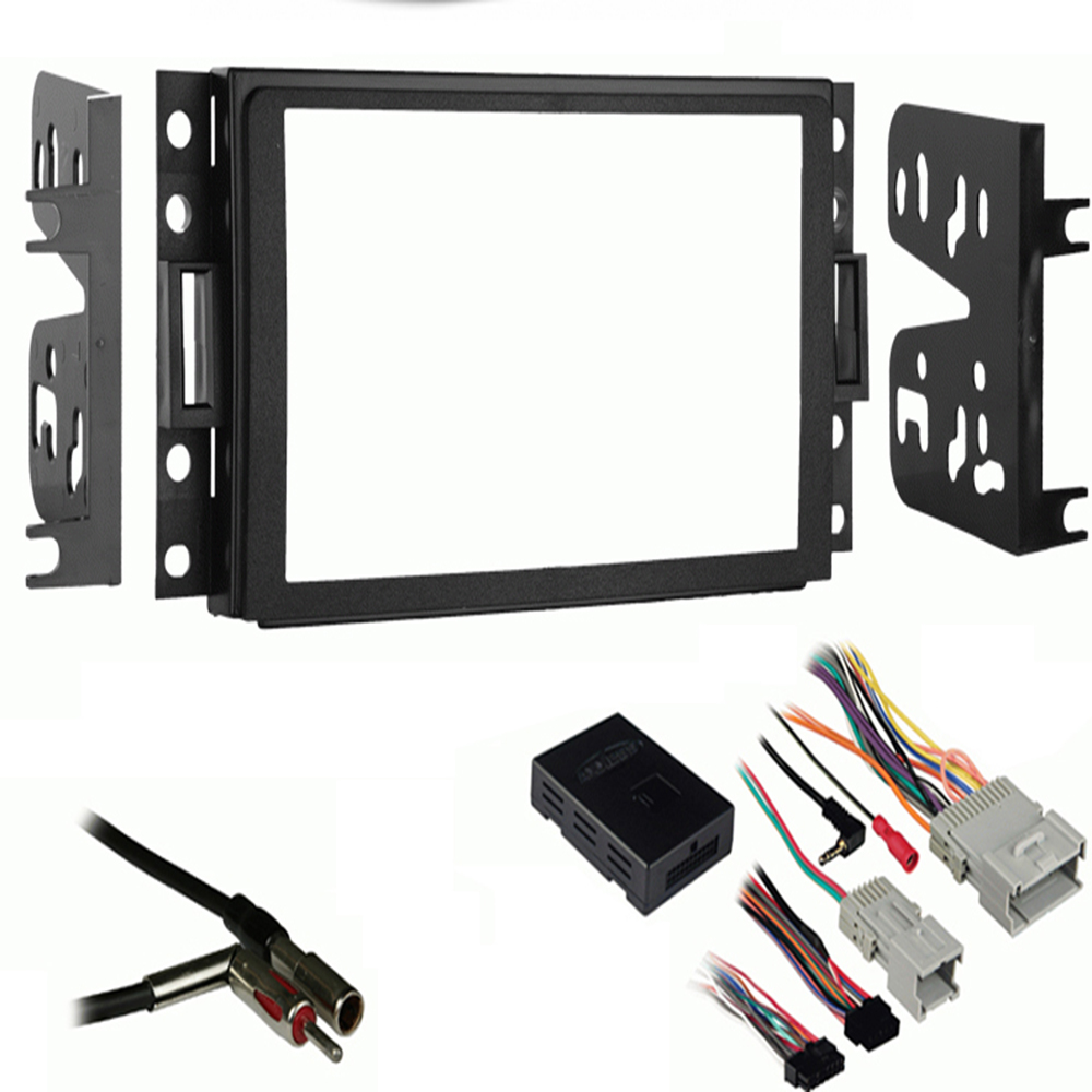 Black Metra 95-3304 Double DIN Installation Kit for Select 2005 ...