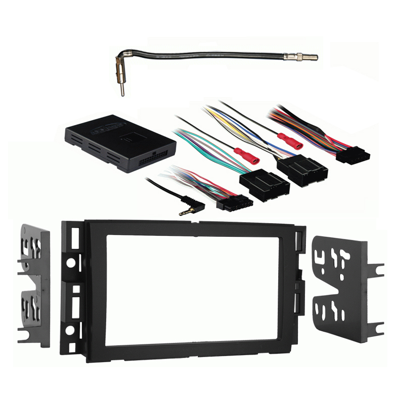 Pontiac Torrent 2007 2008 2009 Double DIN Stereo Harness Radio Install Dash Kit Package
