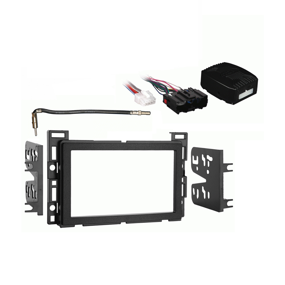 Saturn Ion 2006 2007 Double DIN Stereo Harness Radio Install Dash Kit Package